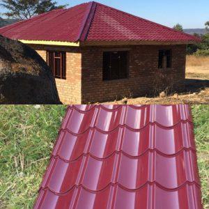 Qtiles Kalahari red roofing sheets